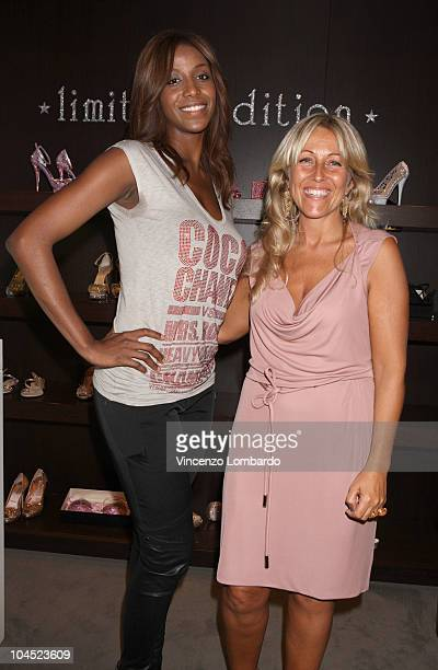 Ainett Stephens and Monica Ciabattini Le Silla Creative Director attend Le Silla presentation during Milan Fashion Week Womenswear Spring/Summer 2011...