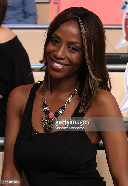 Ainett Stephens attends at 'Quelli Che Il Calcio' TV Show on March 9 2014 in Milan Italy