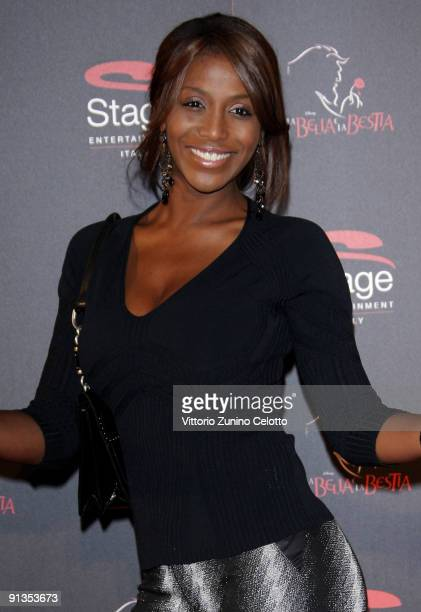 Ainett Stephens attends La Bella E La Bestia Red Carpet held at Teatro Nazionale on October 2 2009 in Milan Italy
