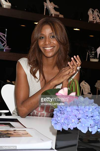 Ainett Stephens attends Le Silla presentation during Milan Fashion Week Womenswear Spring/Summer 2011 on September 25 2010 in Milan Italy