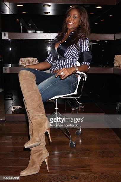 Ainett Stephens attends Le Silla presentation during Milan Fashion Week Womenswear Autumn/Winter 2011 on February 25 2011 in Milan Italy