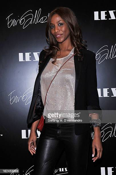 Ainett Stephens attends Le Silla Presentation during Milan Fashion Week Womenswear Fall/Winter 2013/14 on February 23 2013 in Milan Italy
