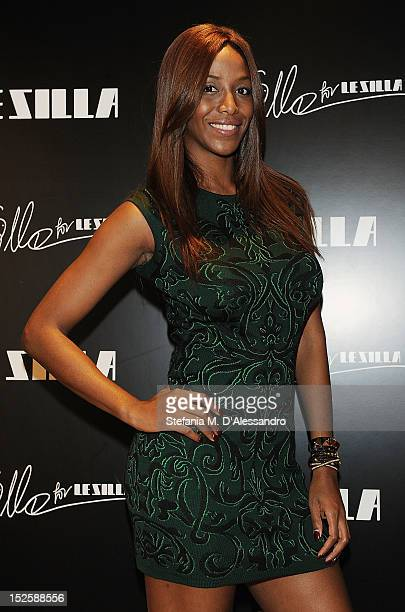 Ainett Stephens attends Le Silla Press Day as part of Milan Fashion Week Womenswear S/S 2013 on September 22 2012 in Milan Italy