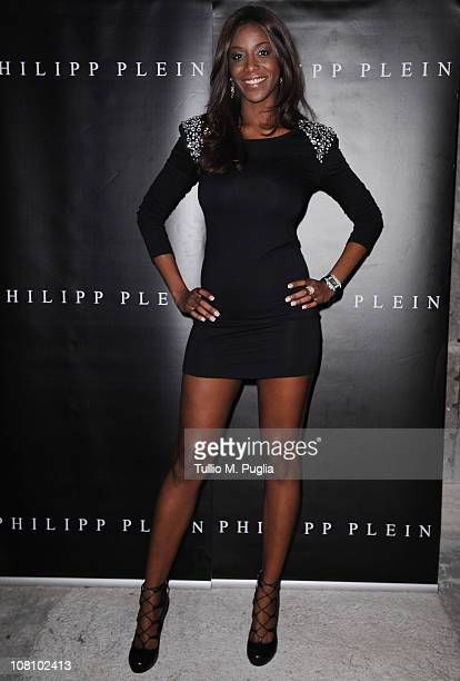 Ainett Stephens attends Philipp Plein new collection presentation during Milan Fashion Week Menswear A/W 2001 on January 17 2011 in Milan Italy