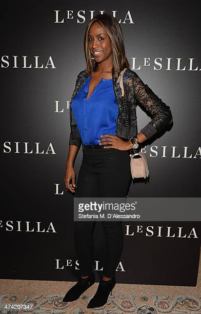 Ainett Stephens attends the Le Silla Fall/Winter 201415 Collection Presentation as part of Milan Fashion Week Womenswear Autumn/Winter 2014 on...