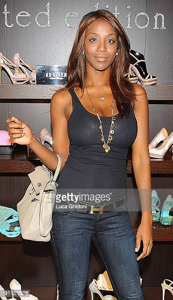 Ainett Stephens attends the presentation of the Le Silla collection in the showroom on September 24 2009 in Milan Italy