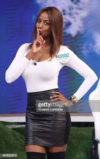 Ainett Stephens attends the 'Quelli Che Il Calcio' TV Show on February 1 2015 in Milan Italy