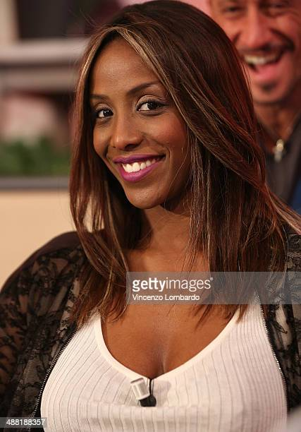 Ainett Stephens attends the 'Quelli che il Calcio' TV Show on May 4 2014 in Milan Italy