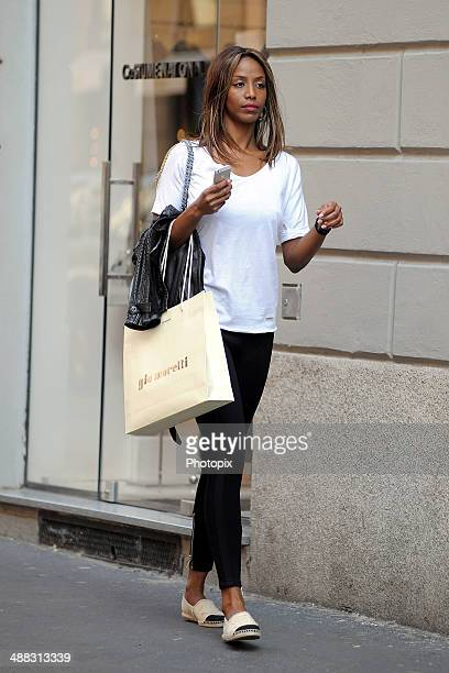 Ainett Stephens is seen on May 5 2014 in Milan Italy