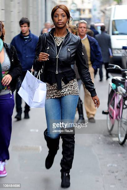 Ainett Stephens is seen on November 3 2010 in Milan Italy