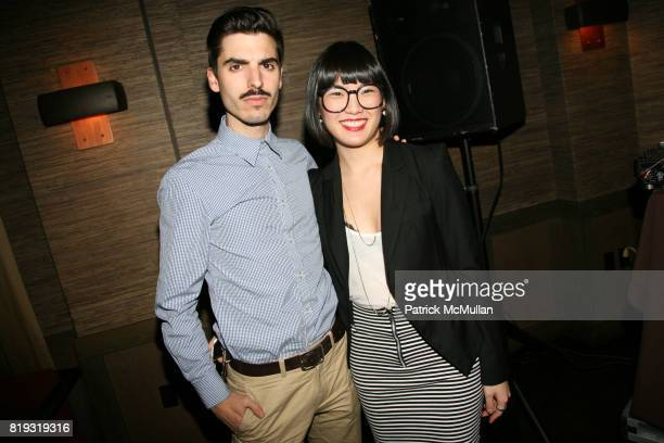 Aingeru Zorita and WeiLi Wang attend DEAR DAVE 7 Launch Party at The Tribeca Grand Hotel on April 23 2010 in New York