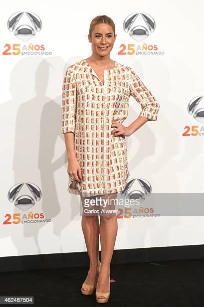Ainhoa Arbizu attends Antena 3 TV Channel 25th anniversary party at the Palacio de Cibeles on January 29 2015 in Madrid Spain