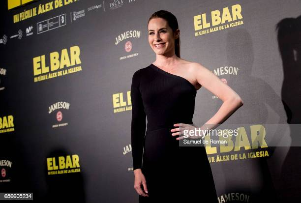 Ainhoa Arbizu attends 'El Bar' premiere at Callao cinema on March 22 2017 in Madrid Spain