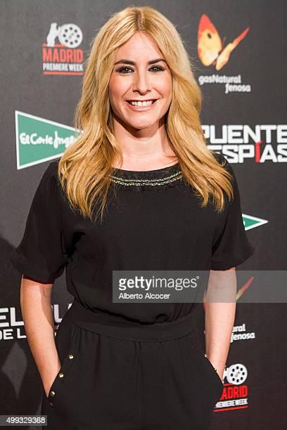 Ainhoa Arbizu attends 'El Puente De los Espias' Madrid Premiere on November 30 2015 in Madrid Spain