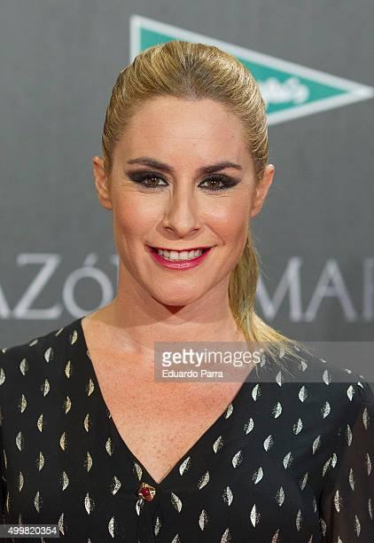 Ainhoa Arbizu attends 'En el corazon del mar' premiere at Callao cinema on December 3 2015 in Madrid Spain