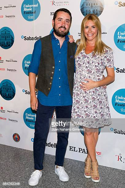 Ainhoa Arbizu attends Manuel Carrasco concert at Royal Theater July 28 2016 in Madrid Spain
