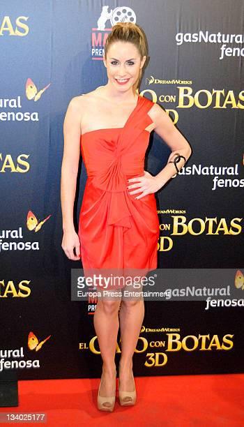 Ainhoa Arbizu attends 'Puss in Boots' premiere at Kinepolis Cinema on November 23 2011 in Madrid Spain