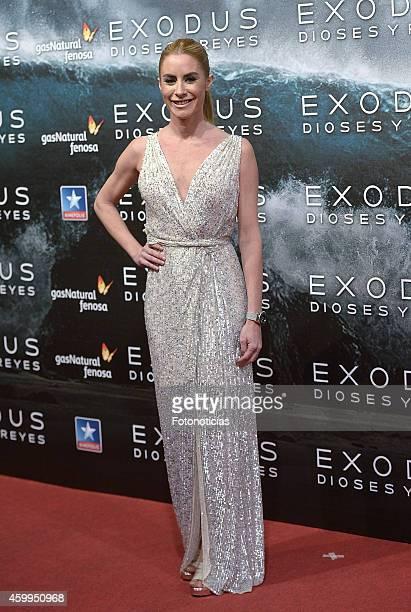 Ainhoa Arbizu attends the 'Exodus Gods And Kings' premiere at Kinepolis Cinema on December 4 2014 in Madrid Spain