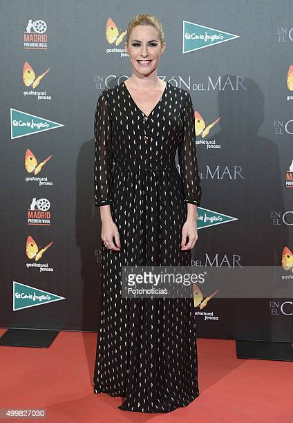 Ainhoa Arbizu attends the 'In The Heart Of The Sea' Premiere at Callao Cinema on December 3 2015 in Madrid Spain