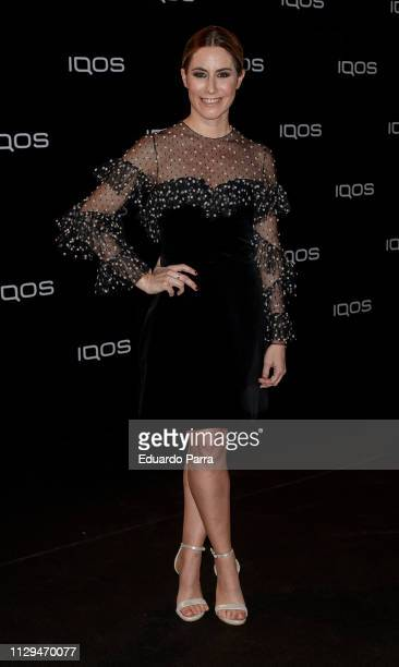 Ainhoa Arbizu attends the IQOS party photocall at Cibeles palace on February 13 2019 in Madrid Spain