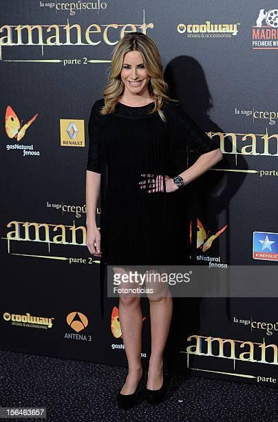 Ainhoa Arbizu attends the premiere of 'The Twilight Saga Breaking Dawn Part 2' at kinepolis Cinema on November 15 2012 in Madrid Spain