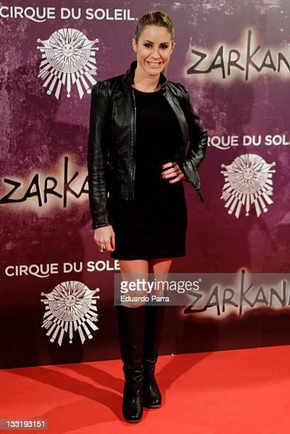 Ainhoa Arbizu attends Zarkana premiere at Madrid Arena on November 17 2011 in Madrid Spain