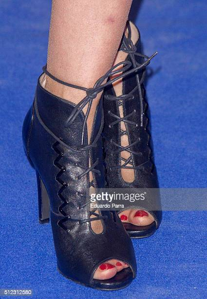 Ainhoa Arbizu shoes detail attends 'Lorenzo guerrero' premiere at Proyecciones cinema on February 25 2016 in Madrid Spain