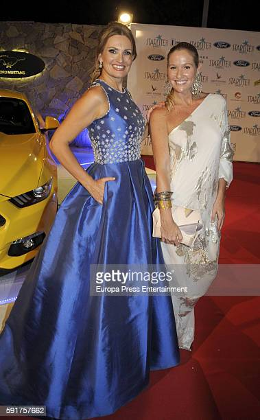 Ainhoa Arteta and Fiona Ferrer attend Starlite Gala on August 6 2016 in Marbella Spain