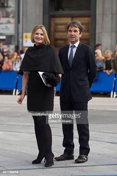 Ainhoa Arteta and husband Jess Garmendia attend the Principe de Asturias Awards 2014 ceremony at the Campoamor Theater on October 24 2014 in Oviedo...