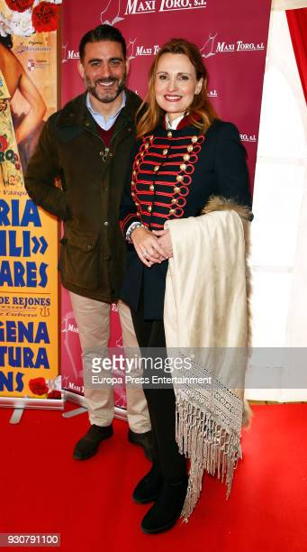 Ainhoa Arteta and Matias Urrea attend the traditional Spring Bullfighting performance on March 10 2018 in Illescas Spain