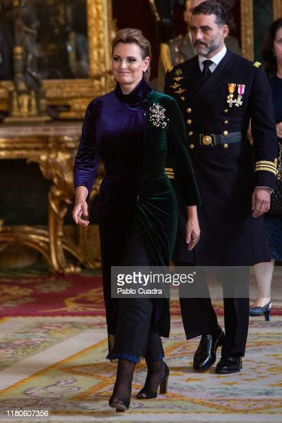 Ainhoa Arteta attends a reception at the Royal Palace during the National Day on October 12 2019 in Madrid Spain