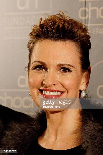 Ainhoa Arteta attends Chocron jewelry event at La Bolsa on November 29 2011 in Madrid Spain