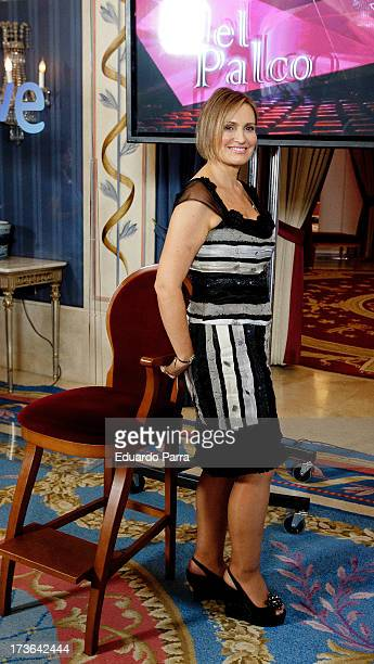 Ainhoa Arteta attends 'El Palco' tv show press conference at Royal Theatre on July 16 2013 in Madrid Spain