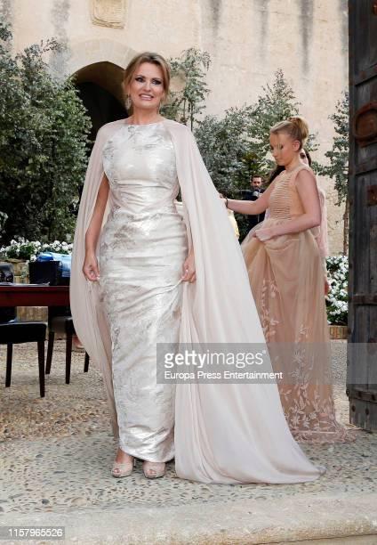 Ainhoa Arteta attends her wedding on June 23 2019 at Castillo de San Marcos in Cadiz Spain