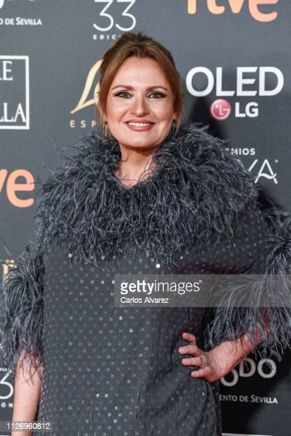 Ainhoa Arteta attends the Goya Cinema Awards 2019 during the 33rd edition of the Goya Cinema Awards at Palacio de Congresos y Exposiciones FIBES on...