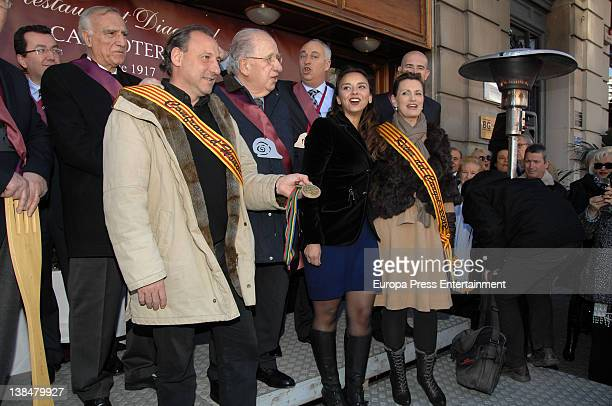 Ainhoa Arteta is appointed Snail Queen and Fermin Cacho is appointed Cofrade de Honor during the Snail Party at Can Soteras Restaurant Singer Chenoa...