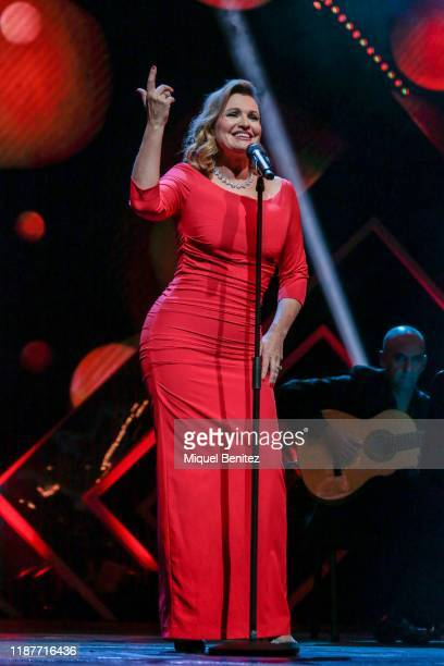 Ainhoa Arteta performs during the 66th Ondas Awards 2019 Gala held at the Gran Teatre del Liceu on November 14 2019 in Barcelona Spain