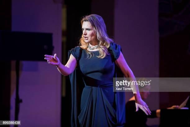 Ainhoa Arteta performs on stage at Palau de la Musica Catalana during the Festival Milleni on December 28 2017 in Barcelona Spain