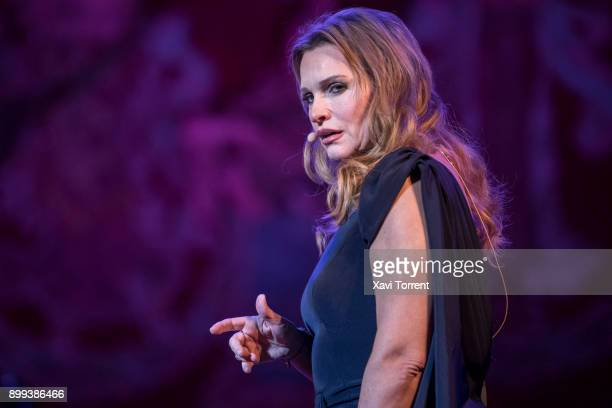 Ainhoa Arteta performs on stage at Palau de la Musica Catalana during the Festival Milleni on December 28 2017 in Barcelona Spain