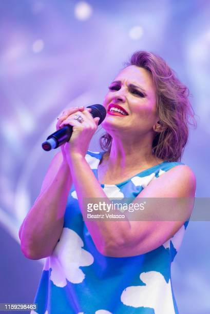 Ainhoa Arteta performs on stage during 'Concierto Por La Paz' by Starlite Foundation at Wanda Metropolitano on June 30 2019 in Madrid Spain