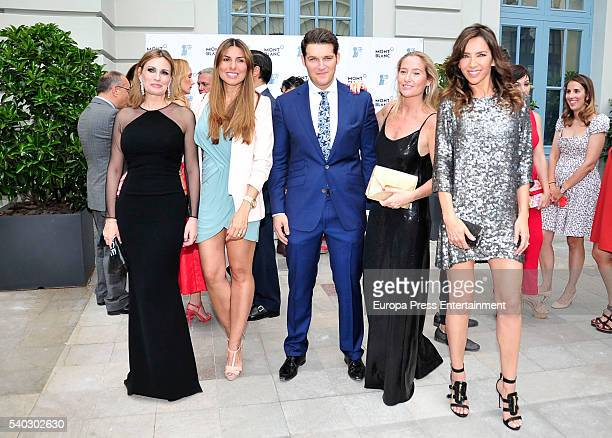 Ainhoa Arteta Silvia Casas Manu Tenorio Fiona Ferrer and Paloma Lago attend 'Juegaterapia' party at the Santo Mauro Hotel on June 14 2016 in Madrid...