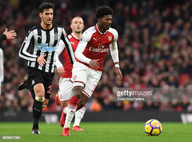 Ainlsey MaitlandNiles of Arsenal during the Premier League match between Arsenal and Newcastle United at Emirates Stadium on December 16 2017 in...