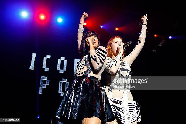 Aino Jawo and Caroline Hjelt of Icona Pop attends 2014 WZPL Birthday Bash at Indiana State Fairgrounds on June 13, 2014 in Indianapolis, Indiana.