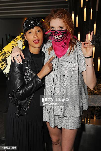 Aino Jawo and Caroline Hjelt of Icona Pop Perform During Art Pop Music Series held at the W on March 26 2014 in Fort Lauderdale Florida