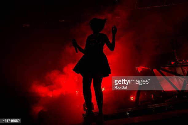 Aino Jawo from Icona Pop performs at the Roskilde Festival 2014 on July 5, 2014 in Roskilde, Denmark.