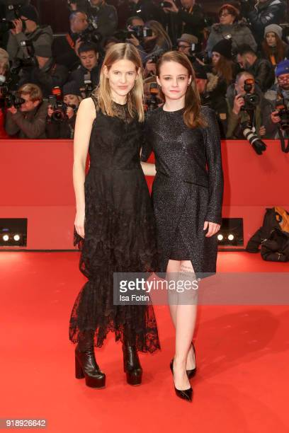 Aino Laberenz and swiss actress Jasna Fritzi Bauer attend the Opening Ceremony 'Isle of Dogs' premiere during the 68th Berlinale International Film...