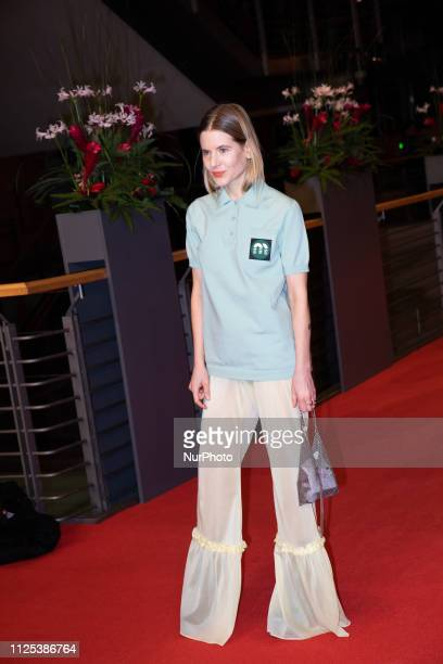 Aino Laberenz arrives for the closing ceremony of the 69th Berlinale International Film Festival Berlin at Berlinale Palace on February 16 2019 in...