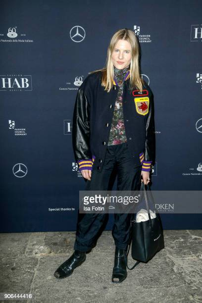 Aino Laberenz during the Fashion HAB show presented by MercedesBenz at Halle am Berghain on January 17 2018 in Berlin Germany