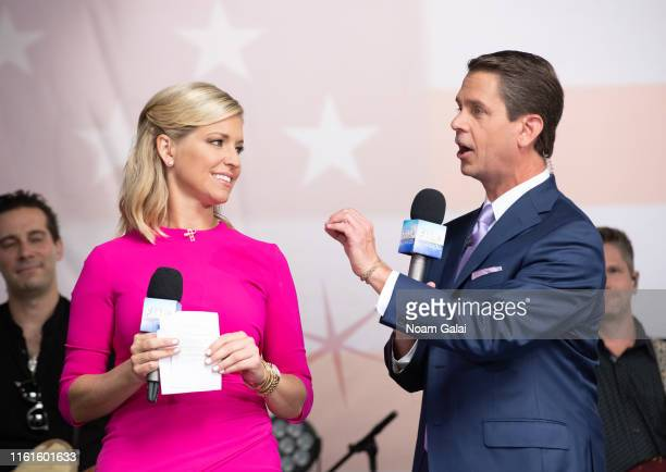 Ainsley Earhardt and Griff Jenkins attend the FOX Friends AllAmerican Summer Concert Series July 12 2019 in New York City