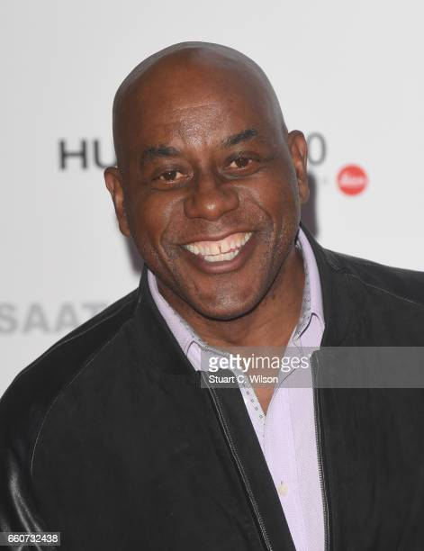 Ainsley Harriot arrives at the Saatchi Gallery for its new exhibition 'From Selfie to SelfExpression' on March 30 2017 in London United Kingdom